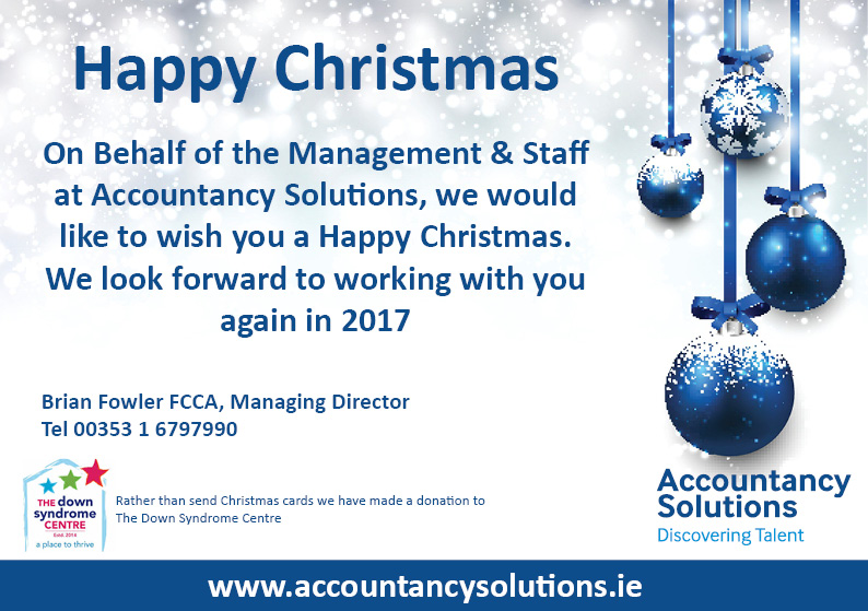 Happy Christmas from Accountancy Solutions